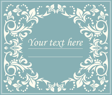 Floral classic circle frame with elegant lines can be used for greeting card, anniversary, invitation, cover and more creative designs. Vettoriali