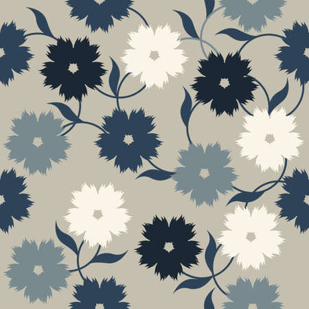 linens: Elegant pattern with stylish flowers and leaves. Seamless template can be used for design fabric, cover, linens and more designs.