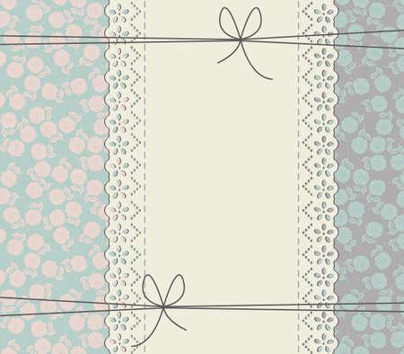 marco de encaje elegante con rosas. Vector de la libertad de la vendimia concepto. Marco retro puede ser utilizado para la invitación de boda, tarjeta de felicitación, invitación de la ducha del bebé y los diseños más creativos.