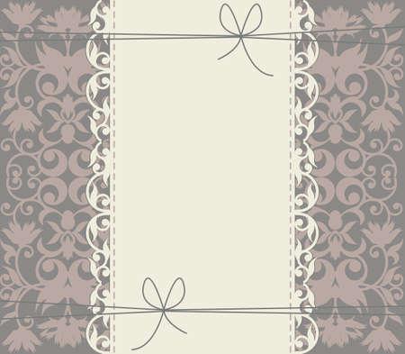 Struttura di pizzo di lusso con ornamento floreale per i vostri disegni creativi. Grande sfondo può essere utilizzato per anniversario, biglietto di auguri, baby shower, invito di nozze e più disegni.