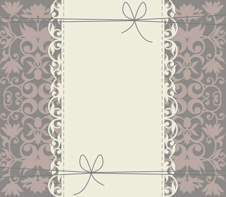 Luxury lace frame with floral ornament for your creative designs.Great background can be used for anniversary, greeting card, baby shower, wedding invitation and more designs.