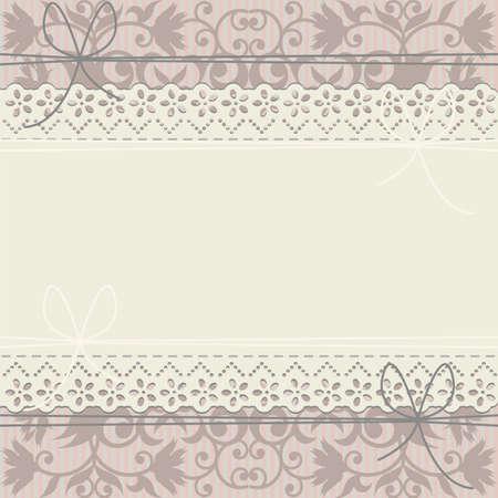 Telaio pizzo sul lusso ornamento floreale. Elegante cornice può essere utilizzato per invito di nozze, biglietto di auguri di San Valentino, doccia carta di bambino e più disegni.