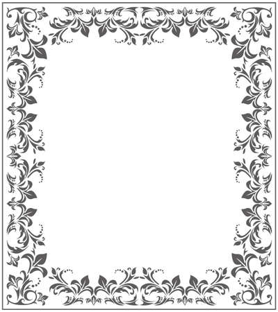 Elegant frame with stylish, vintage ornament. Vector deco for your designs