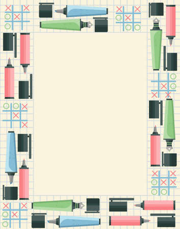 secondary colors: Back to school frame for your designs