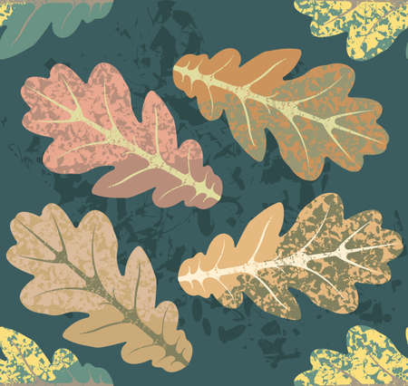 oak leaves: Autumn seamless  pattern with oak leaves can be used for surface textures, textile,linen, tile, kids cloth, pattern fills and more creative designs.