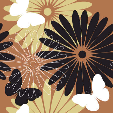 linens: Colorful stylish pattern with flowers and  butterflies. Stylish template can be used for design fabric, textile, linens and more designs.