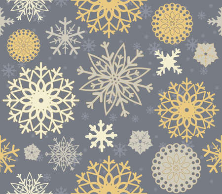 linen texture: Perfect seamless pattern with stylish snowflakes.  Elegant background can be used for wallpaper, linen, paper, bedclothes, textile, cover, card and more creative designs.