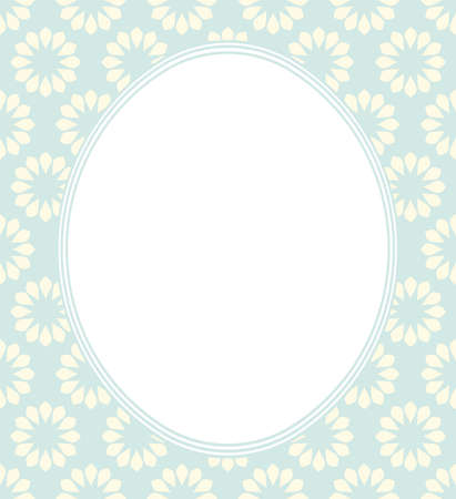 Decorative ovel frame with elegant floral ornament and tender colors can be used for greeting cards, invitations, posters, covers and more creative designs.  イラスト・ベクター素材