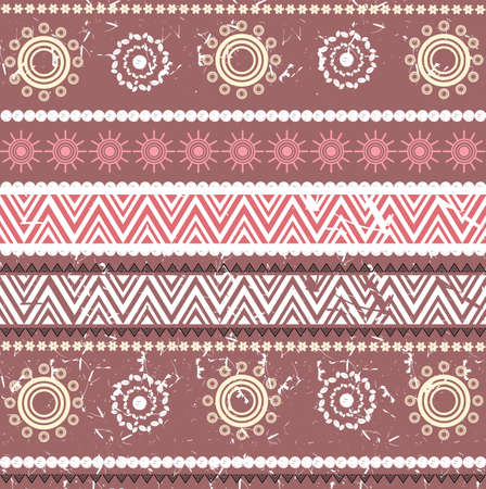 brown pattern: Pattern with retro ornament for design fabric, covers and wrapping paper.