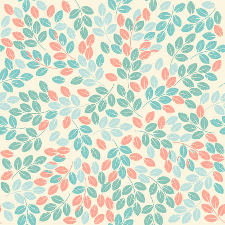 linen texture: Stylish seamless pattern with grunge leaves can be used for wallpaper, linen, tile, design fabric and more creative designs.