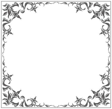 used ornament: Circle frame with vintage ornament for your designs. Frame with elegant floral ornament can be used for greeting card, invitation, poster.