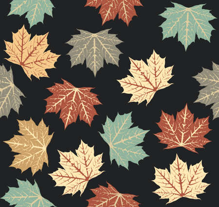 sycamore: Seamless pattern with autumn Maple Leaves. Autumn template for design fabric, covers and wrapping paper.