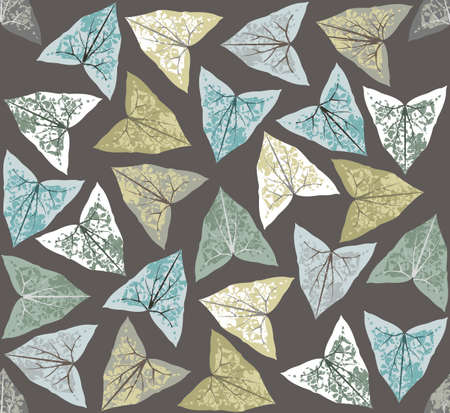 Vector Seamless pattern with ivy leaves for your designs