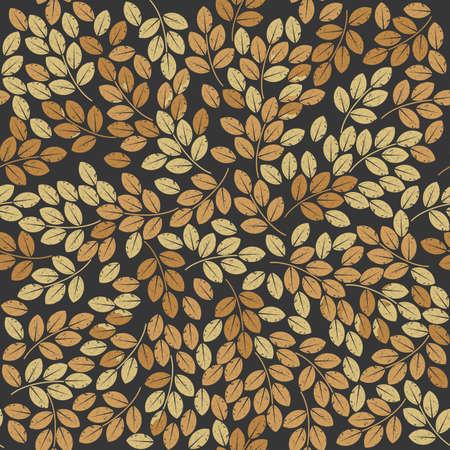 Patten inconsútil con las hojas de otoño con estilo se puede utilizar para fondos de escritorio, ropa de cama, azulejos, tela de diseño y diseños más creativos.