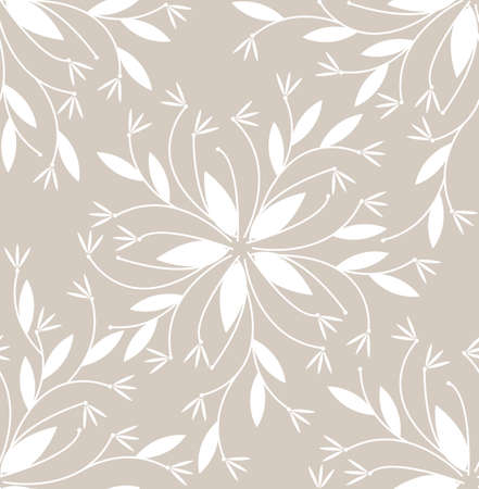 decorative design: Seamless pattern with decorative flowers for design fabric, linen, wallpaper, print and  more designs. Vector template.