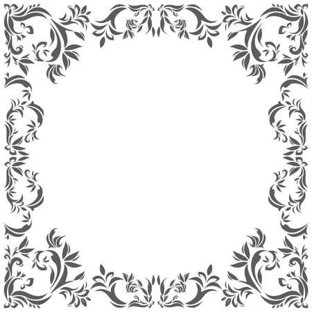Cornice cerchio vintage con elementi floreali per i tuoi disegni