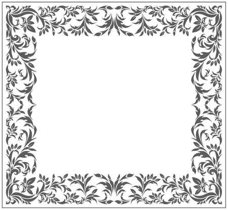 Vintage frame with elegant ornament for your designs. Vector image