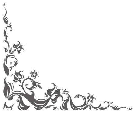 Angolo d'epoca con ornamento elegante per i vostri disegni.
