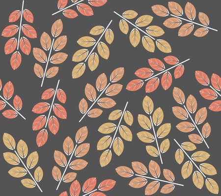 Stylish seamless pattern with decorative leaves. Vector image can be used for linen, tile, wallpaper, autumn background and more designs.