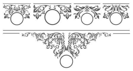 Elegante set di elementi floreali per i tuoi disegni vintage