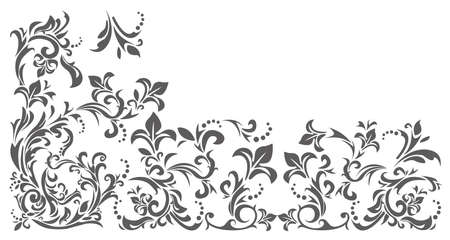 Vector image with floral ornament. Vintage border frame can be used for greeting card, baby shower invitation, wedding invitation and more creative designs.