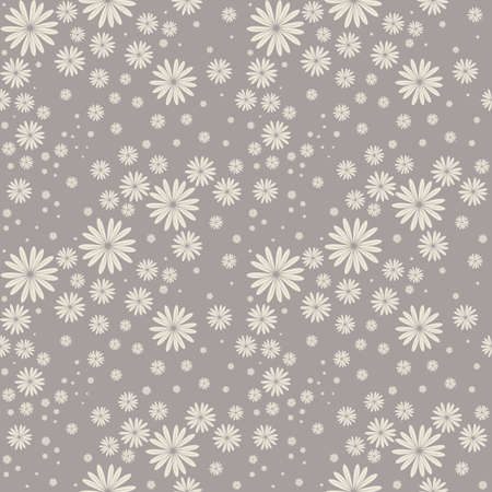 bedclothes: Seamless pattern cute chamomile flowers. Elegant background can be used for wallpaper, linen, bedclothes, textile, cover, card and more creative designs. Illustration