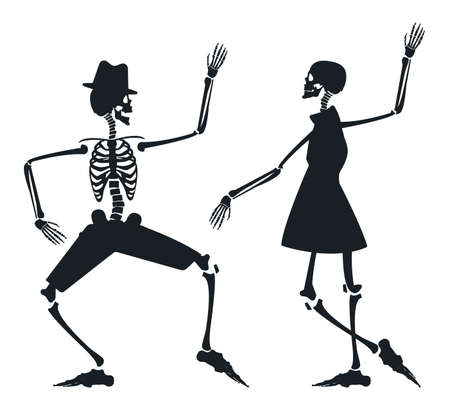 halloween dance poster halloween background with dancing skeleton image can be used for halloween - Dancing Halloween