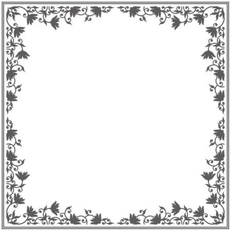 Royal frame with elegant ornament. Stylish vintage frame can be used for greeting card, anniversary and more designs.