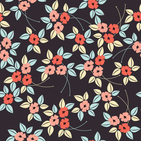 Stylised seamless poppy flower pattern. Perfect for wallpapers, surface textures, textile, kids cloth, pattern fills, web page and more creative designs.