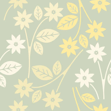 trendy tissue: Decorative seamless pattern with spring flowers can be used for design fabric, greeting cards, covers, linen, tile and more creative designs.