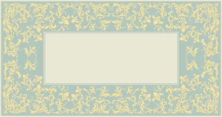 Elegante cornice classica con ornamento d'epoca può essere utilizzato per l'invito di nozze, biglietto di auguri, doccia per i bambini e disegni più creativi.