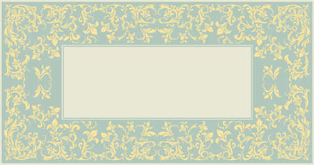 Elegant classic frame with vintage ornament can be used for wedding invitation, greeting card , baby shower and more creative designs.