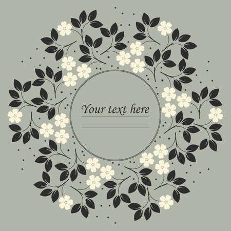 Marco del círculo floral elegante se puede utilizar para la tarjeta de felicitación, aniversario, invitación, la cubierta y los diseños más creativos.