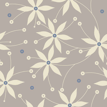 linens: Endless pattern with decorative flowers and floral elements can be used for design fabric, linens, kids clothes, wallpaper, greeting cards and more creative designs.
