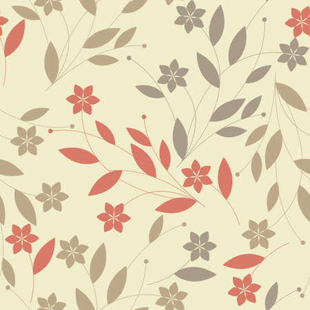 country side: Seamless pattern with tender flowers, petals and leaves. Seamless floral  Template for design fabric, greeting cards, covers, linen, tile and more creative designs. Illustration