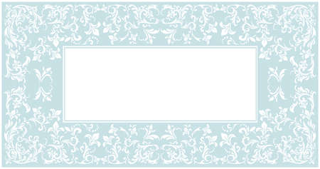 used ornament: Stylish frame with elegant floral ornament and tender color can be used for greeting card, invitation, poster and more creative designs.