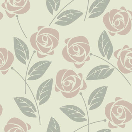 tender: Stylish seamless pattern with elegant roses and leaves.  Perfect for background, greeting cards and invitations to the day of the wedding, birthday and more designs.