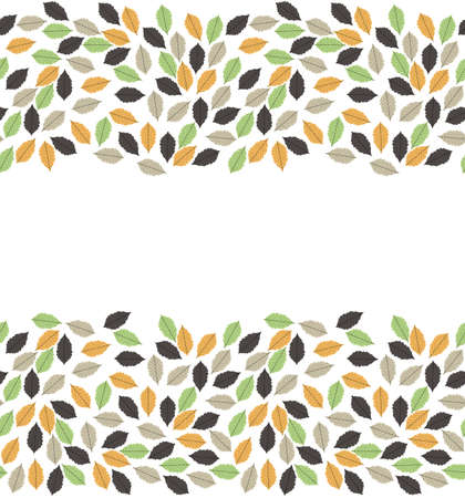 colorful frame: Beautiful autumn frame with oak colorful leaves, with place for your text. Can be used for pattern, label, emblem, sign, symbol, frame, decoration.