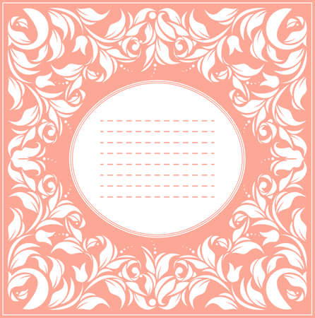 Beautiful vintage frame with classic ornament can be used for wedding invitation, birthday greeting card, cover and more creative designs.