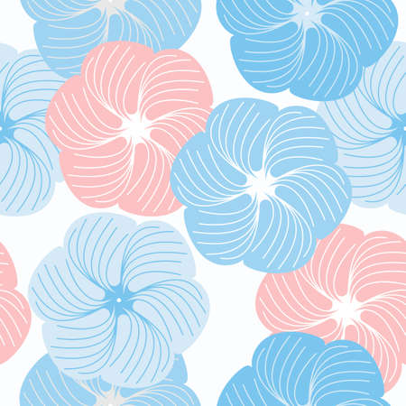 asian gardening: Cute seamless pattern with beautiful flowers can be used for design fabric, backgrounds, wrapping paper, package, covers, linen and more ideas. Illustration