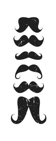 style goatee: Vector icon set with mustaches for your creative designs.