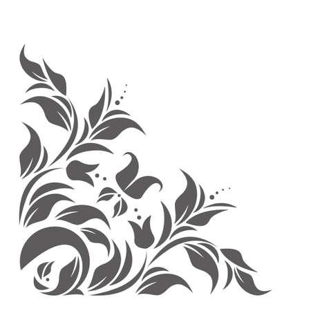 Il bordo dell'annata con l'ornamento floreale classico può essere usato per gli inviti di cerimonia nuziale, gli inviti della doccia del bambino, le copertine, le cartoline d'auguri ed i disegni più creativi.