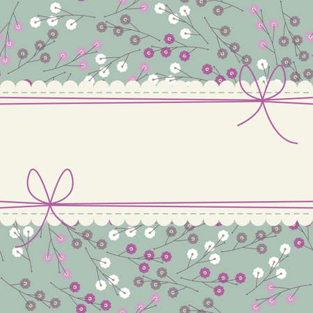 soulful: Stylish lace frame with cute colorful flowers can be used for wedding invitation, anniversary, cover and more creative designs.