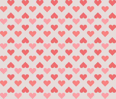 romatic: Stylish pattern with colorful hearts. Vector image for your creative designs.