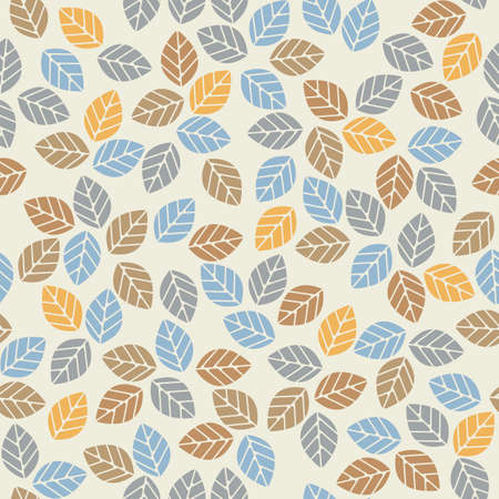 linen: Seamless pattern with colorful leaves can be used for design fabric, backgrounds, wrapping paper. Illustration