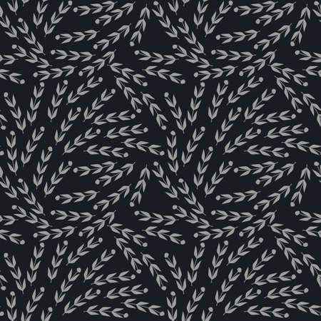 soulful: Seamless pattern with grey leaves can be used for design fabric, backgrounds, wrapping paper, package, covers, linen and more ideas. Illustration