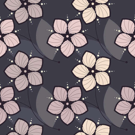 Stylish seamless pattern with elegant flowers can be used for design fabric, backgrounds, wrapping paper, package, covers, linen and more designs.