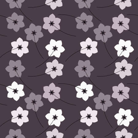 Abstract seamless pattern with flowers can be used for design fabric, linen, tile, wallpaper, paper and more creative designs. Vector image.