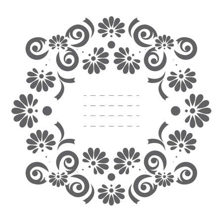 Elegant vector frame. Perfect frame can be used for wedding invitation, baby shower invitation, cover, greeting card and more creative designs