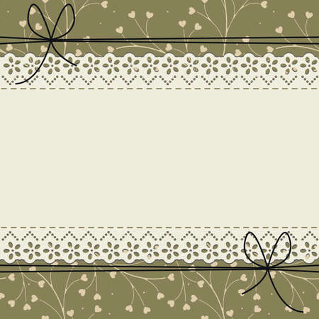 Lace frame with cute pattern can be used for wedding invitation, greeting card , baby shower and more creative designs. Ilustracja